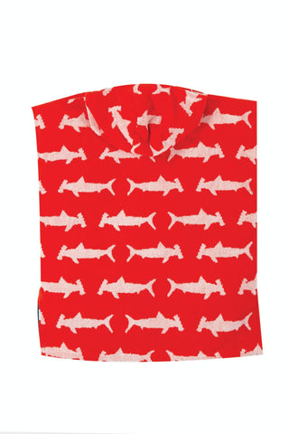 Image of Frugi Havana Hooded Towel -  Hammerhead Sharks