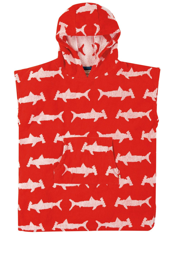 Frugi Havana Hooded Towel -  Hammerhead Sharks