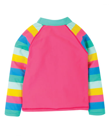 Frugi Sun Safe Rash Vest - Flamingo/Mermaid