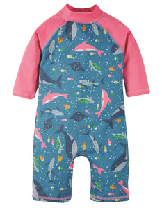 Frugi Little Sun Safe Suit - Bengal Bay