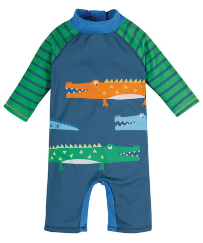 Frugi Little Sun Safe Suit -  India Ink/Crocs