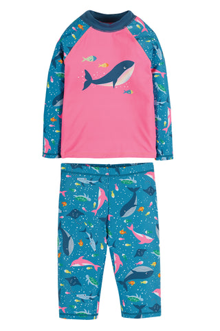 Image of Frugi Sun Safe Set - Mid Pink/Whale