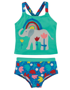 Frugi Reef Tankini -  Lotus Bloom/Elephants