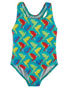 Frugi Seaside Swimsuit - Aqua Parrots
