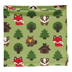 Maxomorra Velour Scarf Tube - Green Forest