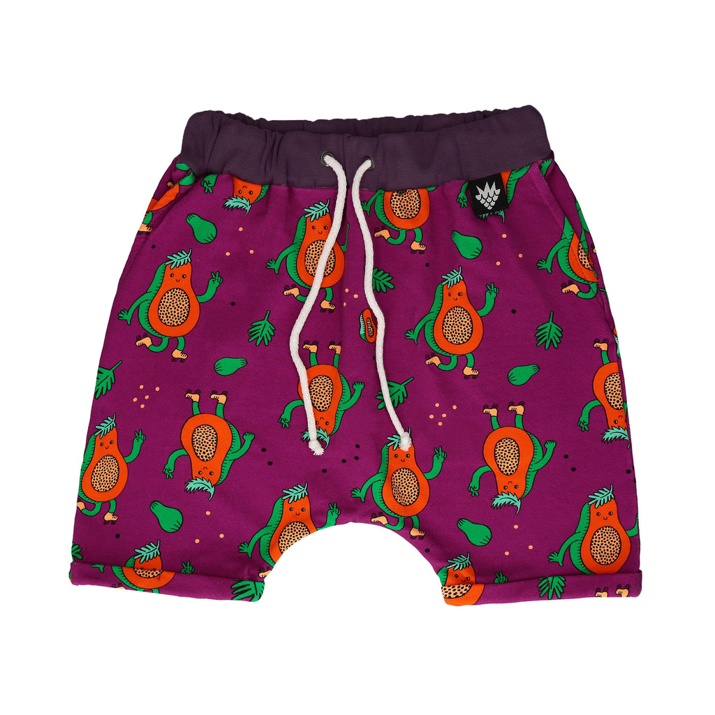 Raspberry Republic Sweat Shorts - Papaya Power