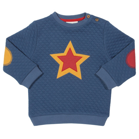 Image of Kite Quilted Star Sweatshirt - Tilly & Jasper