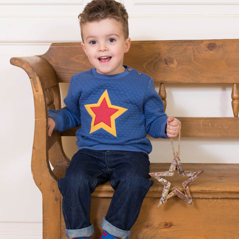 Kite Quilted star sweatshirt - Organic Cotton