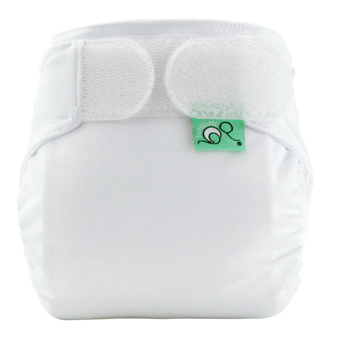 Image of TotsBots Teeny Fit Star Nappy - White