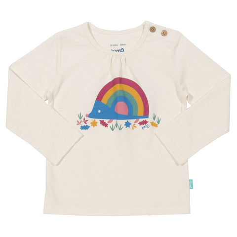 Image of Kite Rainbow Hedgehog T-shirt - Tilly & Jasper