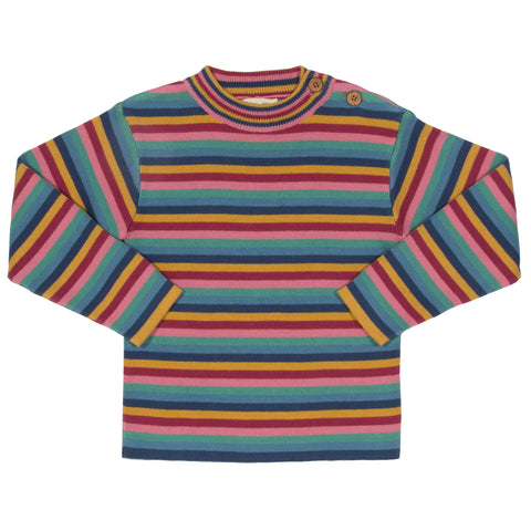 Kite Rainbow stripe jumper - Organic Cotton