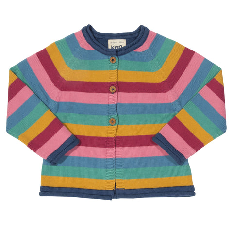 Kite Stripy dino cardi - Organic Cotton