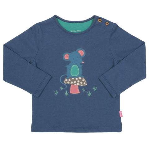 Image of Kite Mousey mushroom t-shirt - Organic Cotton