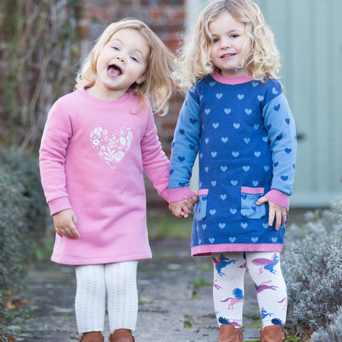 Image of Kite Love Leaf Dress - Tilly & Jasper