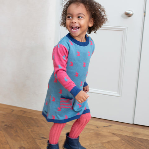 Image of Kite Happy Hare Knit Dress
