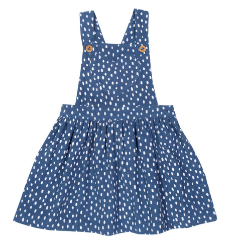 Image of Kite Speckle Heart Pinafore