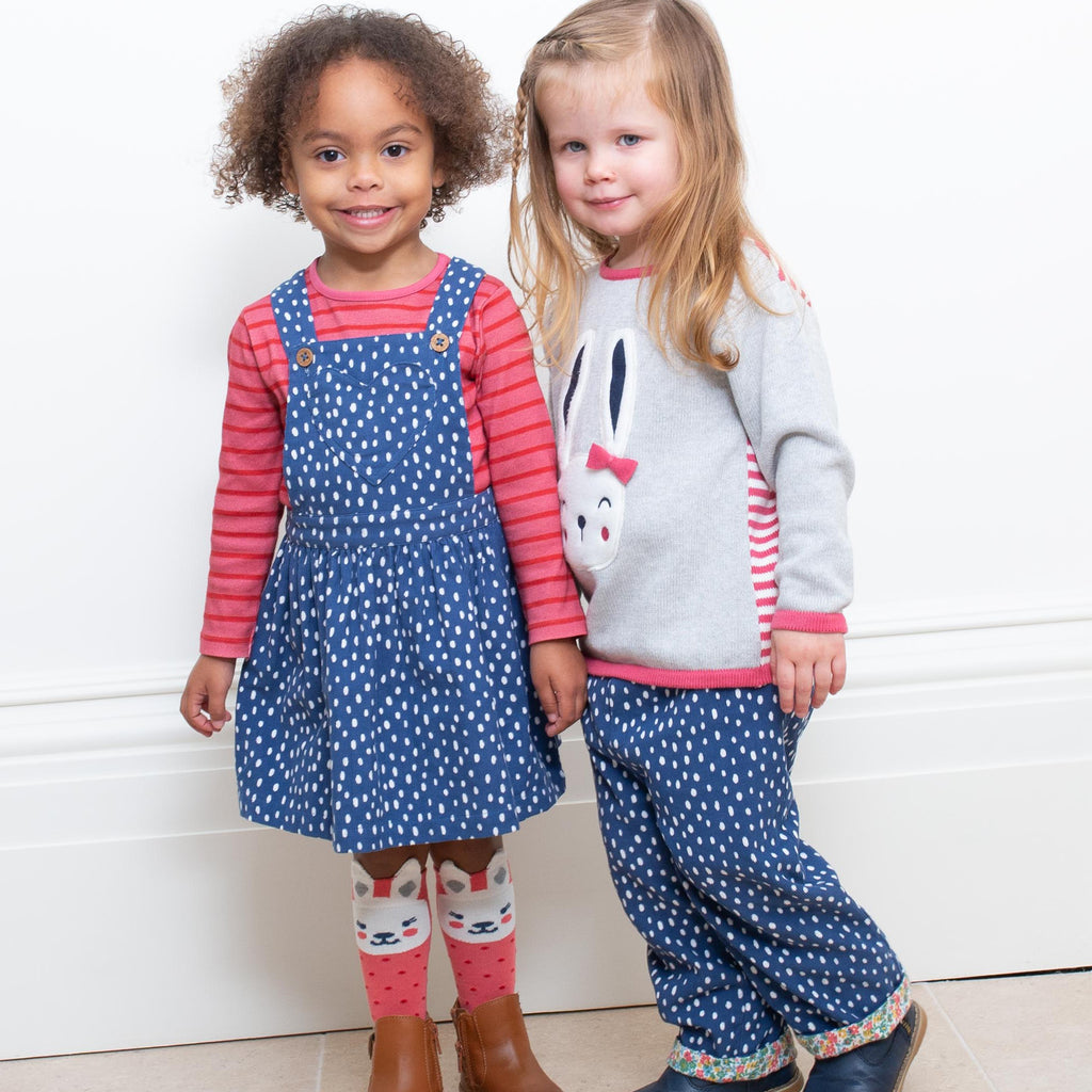 Kite Speckle Heart Pinafore