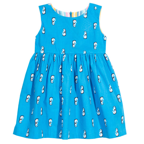 Image of Kite Seahorse Stripe Dress (reversible)