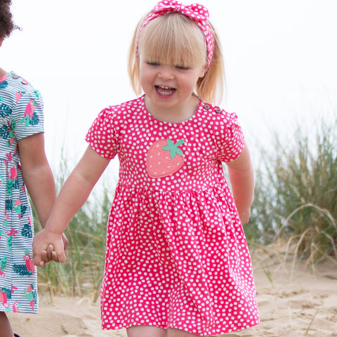 Image of Kite Dotty Strawberry Dress