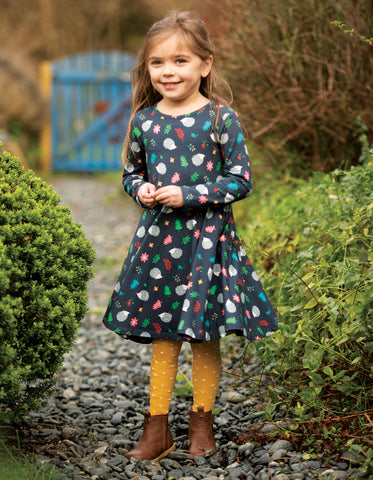 Image of Frugi Norah Tights - Bumble Bee Spot