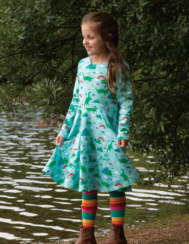 Frugi Norah Tights - Foxglove Multistripe
