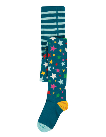 Frugi Norah Tights - Rainbow Stars