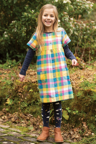 Image of Frugi Tamsyn Tights - Indigo/Horses
