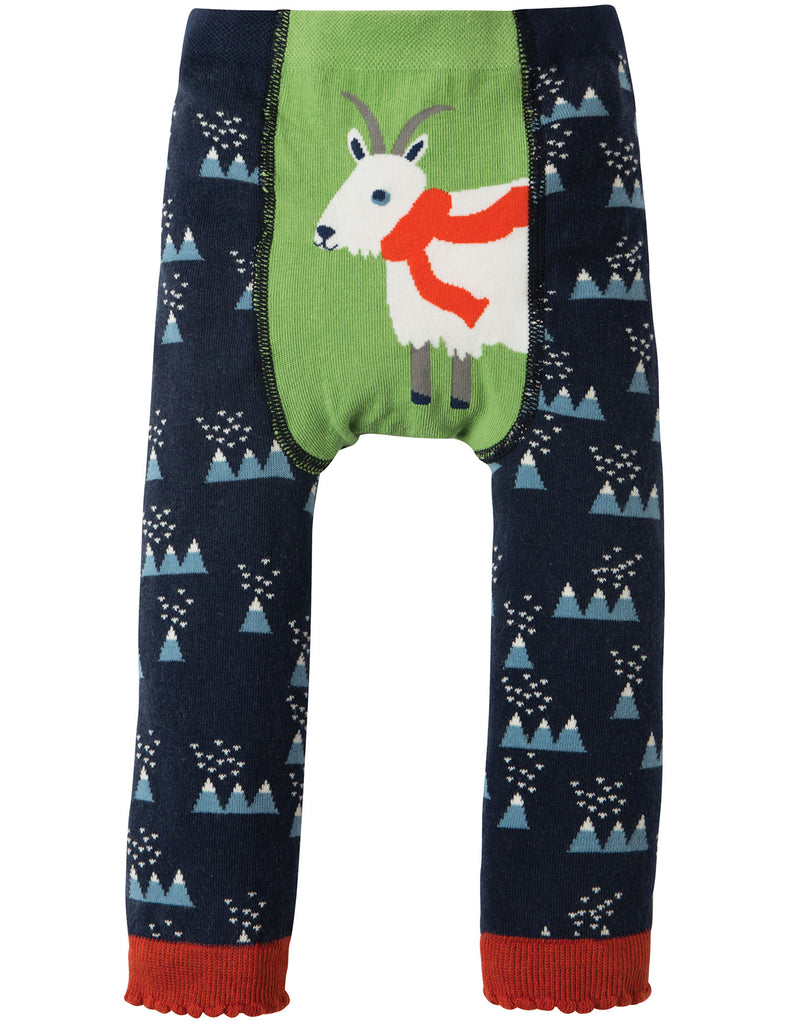 Frugi Little Knitted Leggings - Mountain Range/Goat - Tilly & Jasper