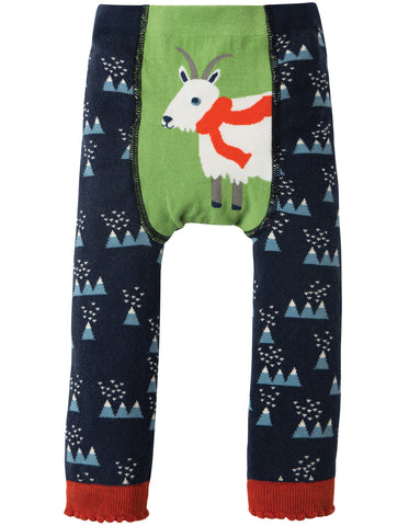 Image of Frugi Little Knitted Leggings - Mountain Range/Goat - Tilly & Jasper
