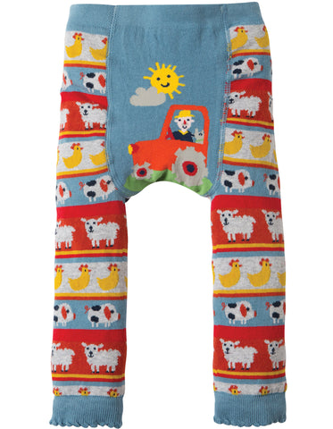 Little Knitted Leggings - Tractor Fairisle
