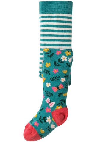 Frugi Little Norah Tights - Alpine Meadow - Tilly & Jasper