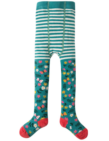 Frugi Little Norah Tights - Alpine Meadow