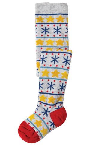 Frugi Little Norah Tights - Christmas Stars