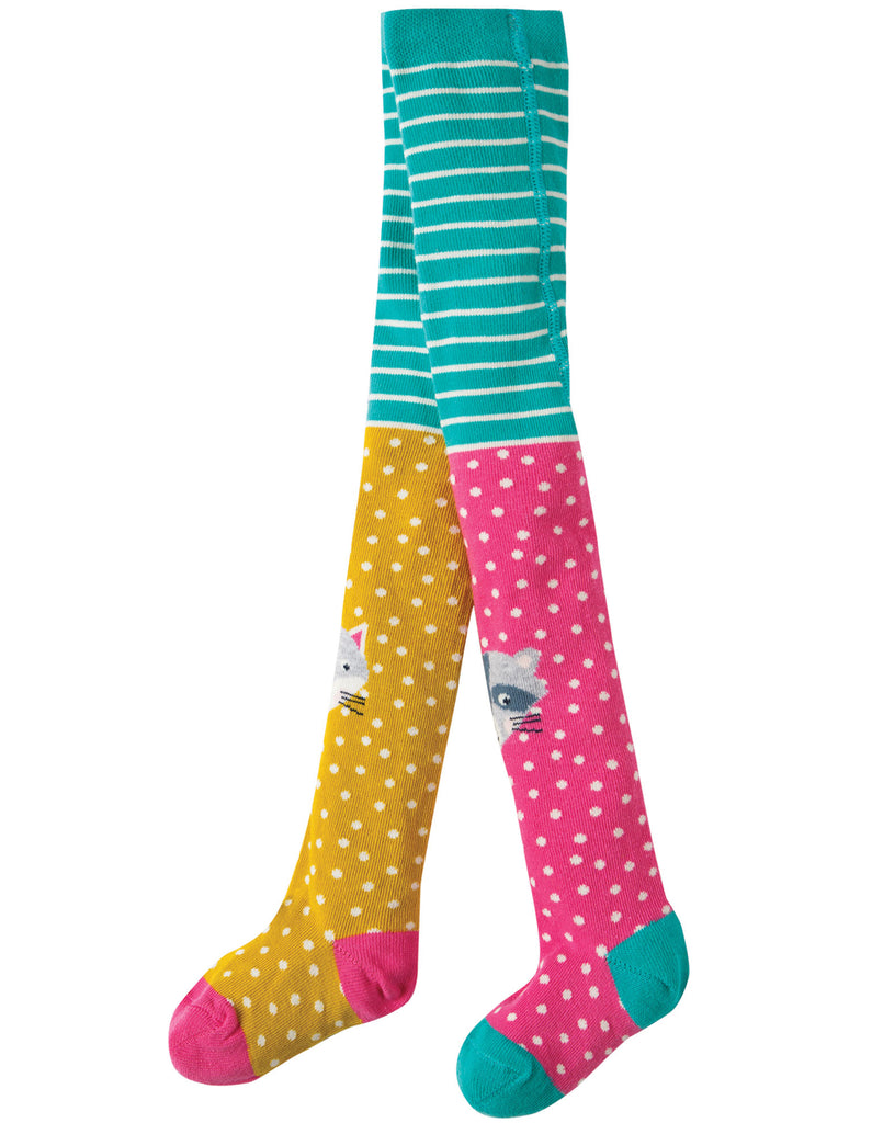 Frugi Fun Knee Tights - Hotchpotch/Character  - Organic Cotton