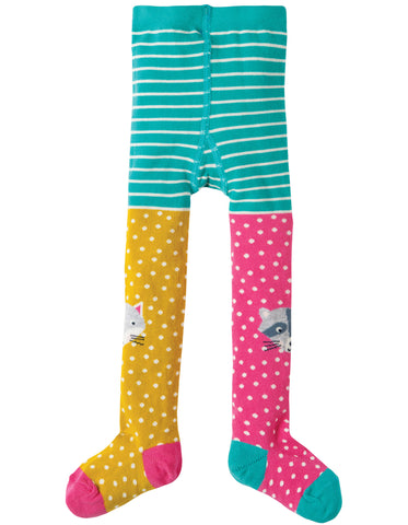 Image of Frugi Fun Knee Tights - Hotchpotch/Character  - Organic Cotton