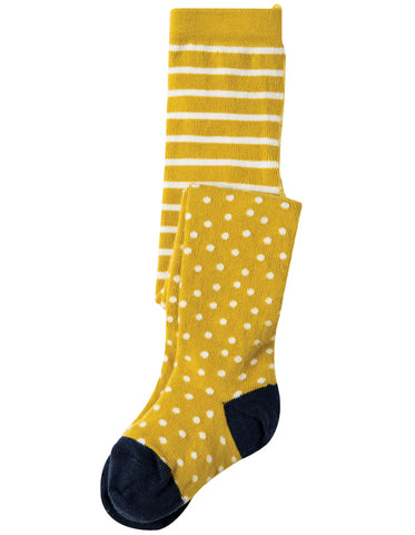 Image of Frugi Tamsyn Tights - Gorse Spot - Tilly & Jasper