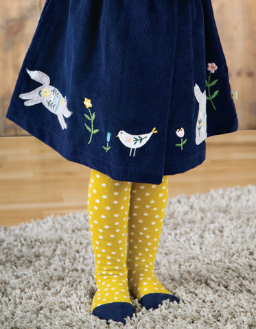 Frugi Tamsyn Tights - Gorse Spot