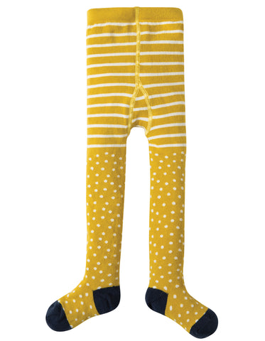 Frugi Tamsyn Tights - Gorse Spot - Tilly & Jasper
