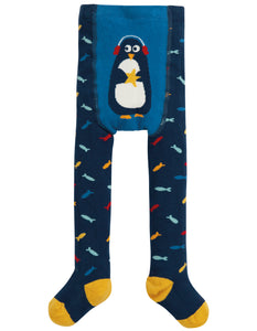 Frugi Crawl Away Tights - Multi Fish/Penguin - Tilly & Jasper
