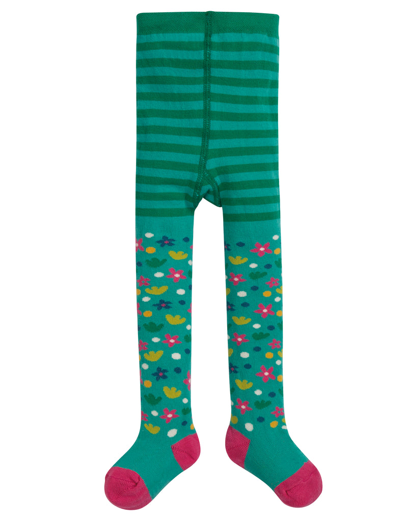 Frugi Little Norah Tights - Ditsy Floral - Tilly & Jasper