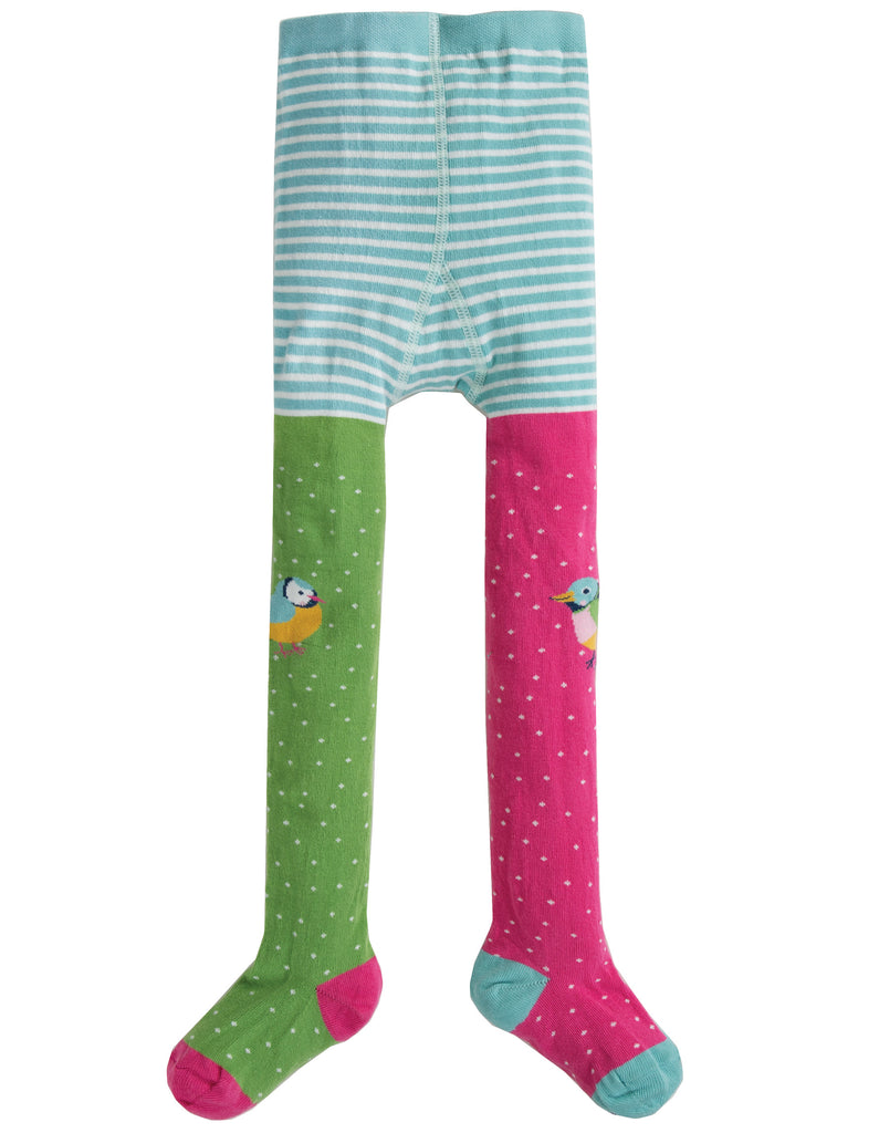 Frugi Fun Knee Tights - Hotchpotch/Finches - Tilly & Jasper