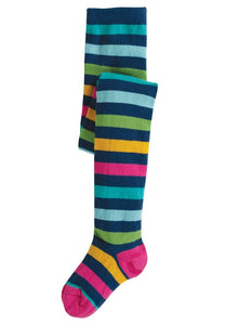 Frugi Norah Tights - Bright Multi Stripe