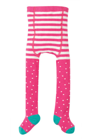 Image of Frugi Tamsyn Tights - Flamingo Dot