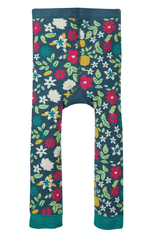 Frugi Little Knitted Leggings - Flowers/Bee