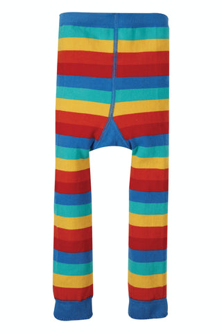 Frugi Little Knitted Leggings -  Rainbow Stripe/Truck