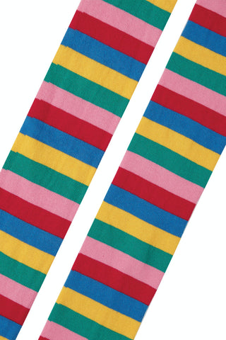 Image of Frugi Tamsyn Tights - Rainbow Stripe