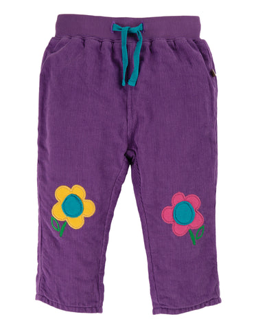 Frugi Little Cord Patch Trousers - Thistle