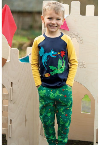 Image of Frugi Printed Snug Joggers - Dragons