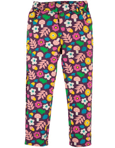 Frugi Tresco Trouser - Aubergine Lost Words