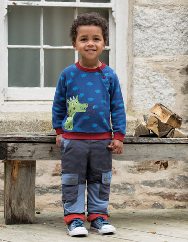 Image of Frugi Little Expedition Trouser - Slate